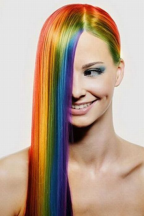 Rainbow hair CapelliDaSogno